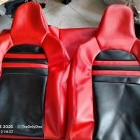 Sarung Jok Mobil Honda Brio 2017 merah hitam