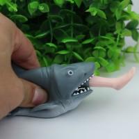 Mainan Squishy Model Slow-Rising Bahan PU Elastis Bentuk Ikan Hiu