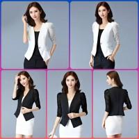 baju atasan wanita blouse korea choi blazer kerja kantor blaser putih