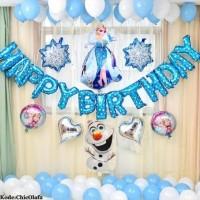 Set paket balon frozen olaf elsa anna birthday ulang tahun dekorasi