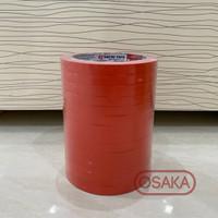 Isolasi / Selotip Buah Sayur Bag Neck Sealer Nachi Merah 9mm x 50m