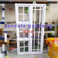 jendela aluminium 80x150 gandeng ornamen casement