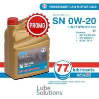 OLI 77 LUBRICANTS MOTOR OIL SN 0W-20 (GALON 5 Liter)