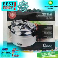 OXONE OX-2008 Alumunium Pressure Cooker / Presto 8 Liter