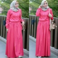Baju Muslim Gamis MEISYA Syari Jumbo SERUT Bahan BALOTELLI Maxi Busui