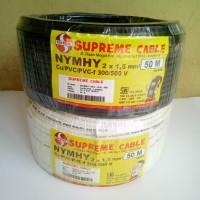 kabel supreme nyyhy / nymhy 2x1.5 ( 2 x 1,5 ) serabut jual per meter