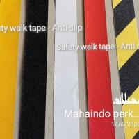 Anti slip/Safety walk/Lakban lantai/Tangga/Amplas kasar 5CM - Kuning-hitam