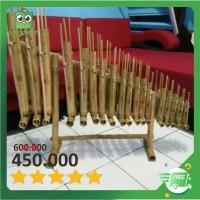 Set Angklung 18 Nada atau 2 Oktaf bisa untuk SD/SMP Bambu Putih