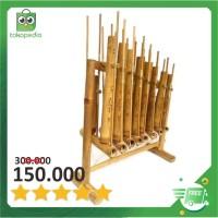 Set Angklung 8 Nada atau 1 Oktaf bisa untuk SD/SMP Bambu Putih