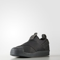 sepatu slip on adidas/superstar/original/murah/hitam abu abu