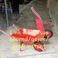 Gerobak sorong merah/ model artco/ gerobak pasir/gerobak maxi/ HSG