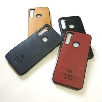Redmi Note 8 Fashion logo PU Leather Back Cover Case