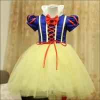baju pakaian anak model Dress snow white dengan bando