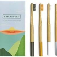 Arashi Goods Bamboo Toothbrush - Soft Bristle Eco Friendly Toothbrushe