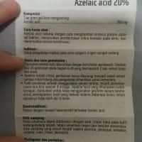 AZELAIC AZALEIC ACID AZA 20 % Terjamin