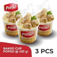 Bakso Cup PopSo -Paket isi 3 Cup @400gr X 3 Cup
