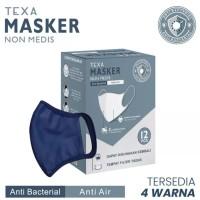Masker Kain Non Medis TEXA (12 pcs / box) Anti Bacterial Anti Air