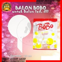 Balon BOBO Besar Plastik Putih Polos Untuk Balon Lampu Tumblr LED