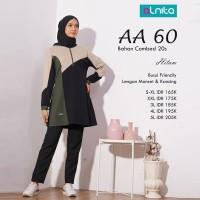Tunik Kaos Combed + Alnita AN-AA60 HITAM + Atasan Wanita Original