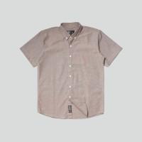 Kemeja Polos Lengan Pendek Monochrome SS Fuscus Oxford Shirt