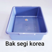 Baskom Segi Plastik Hidroponik/Bak Tahu Komet/Bak Kotak abu2