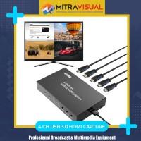 4 HDMI Quadview & USB 3.0 HDMI Capture Streaming Vmix, OBS, Wirecast