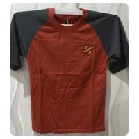 Kaos Fashion Anak Laki-Laki Tanggung Lengan 3/4 - TW - Cokelat