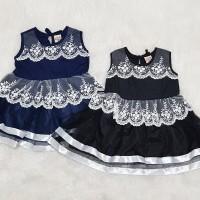 Baju Dress Kondangan Pesta Anak Bayi Perempuam Renda
