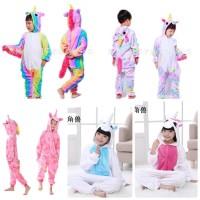 Baju Tidur Piyama Kostum Cosplay Anak Onesie Unicorn Lucu Import