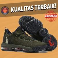 Sepatu Basket Sneakers Nike Lebron 16 Low Camo Pria Wanita