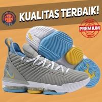 Sepatu Basket Sneakers Nike Lebron 16 MPLS Grey Pria Wanita