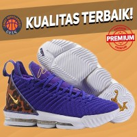 Sepatu Basket Sneakers Nike Lebron 16 Kings Court Purple Pria Wanita