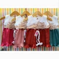 Baju Dress Newborn Bayi Perempuan Dress Pesta Kondangan Plisket
