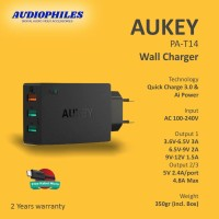 Aukey Wall Charger 3 Ports 42W QC.3.0 Fast Charging & AiQ - PA-T14
