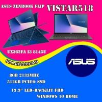 Asus Zenbook Flip UX362FA i3 8145U-8GB-512GB-13.3FHD-WIN 10 HOME