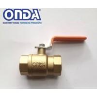 ball valve onda 3/4 kuningan drat dalam stop kran keran balvalep