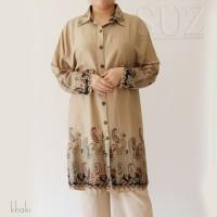 Atasan Kemeja Panjang Tunik Muslim Jumbo 3146 - Navy, 4L