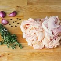 Kulit Ayam Dada kulit Paha 500gr Chicken Skin Bukan Frozen 500 gr