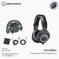Audiotechnica ATH-M50X / 50X Headphone Professional Recording