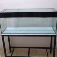 aquarium ukuran 100x50x50 kaca 8mm full plus rak besi hollow 4x4