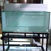 aquarium 120x50x50 full 10mm full skotlet rak besi hollo & talang kaca