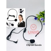 Microphone Mic Clip On Bando Headset Mic Clip On