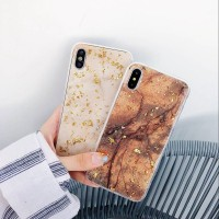 Gold Foil Marble Stone Soft Case iPhone X 8 7 6 6S Plus 11 Pro Max
