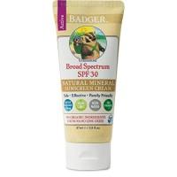 Badger - SPF 30 Zinc Oxide Sunscreen Cream - Unscented - Broad Spectru