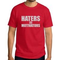 kaos t-shirt unisex pria premium haters is motivators