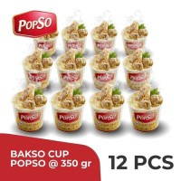 Bakso Cup PopSo - Isi Paket 12 Cup @350gr X 12 Cup