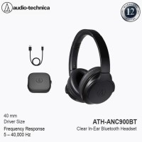 Audio-Technica Ath-Anc900Bt Wireless Active Noise-Cancelling Headphone