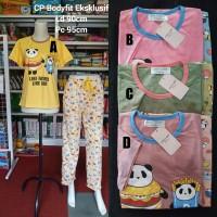 Baju Tidur Setelan CP Bodyfit Anne Claire - Babydoll Tangan Pendek