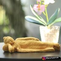 Patung Budha Tidur Souvenir Aksesoris Aquascape P 24 cm