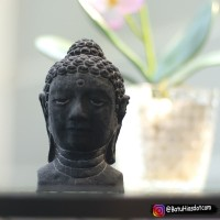 Souvenir Patung Kepala Budha Aksesoris Aquascape T 11 cm